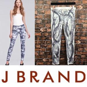 J. Brand Plum Tie Dye Skinny Jeans